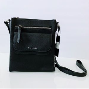 Tahari Black Crossbody Bag/ Purse- NWT